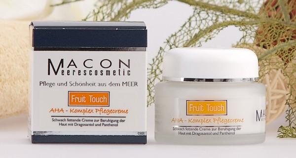 Macon Meereskosmetik - AHA Komplex Pflegecreme - Fruid Touch Fruchtsäure