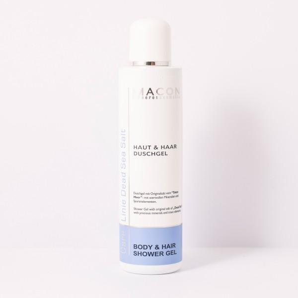 Macon Meereskosmetik - Haut Haar Duschgel - Body Hair Showergel mit Parfum Öl - Dead Sea Salt
