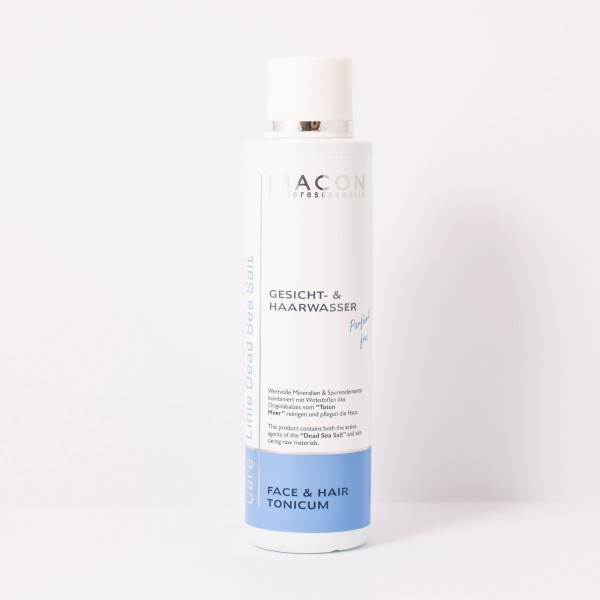 Macon Meereskosmetik - Gesichtswasser Haarwasser Face Hair Tonicum - Dead Sea Salt Totes Meer Salz