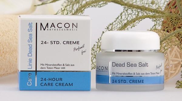 Macon Meereskosmetik - 24 Std Creme ohne Parfum - Dead Sea Salt Totes Meer Salz