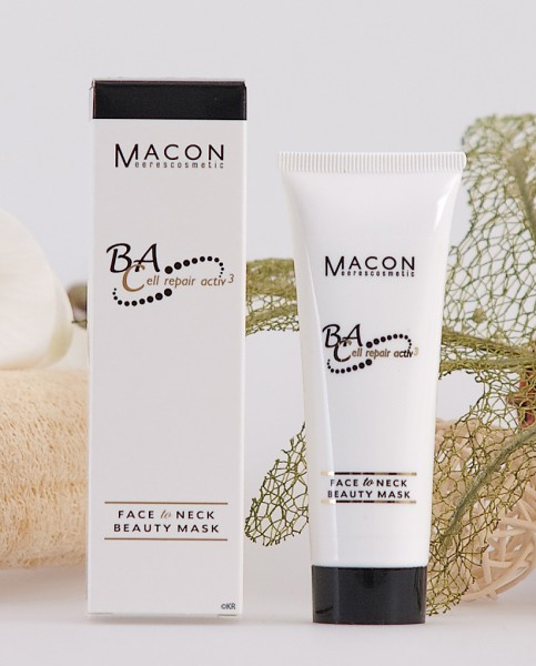 Macon Meereskosmetik - Face to Neck Beauty Mask Maske - BA Cell repair active